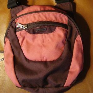 Columbia Salmon Brown Shoulder Crossbod Travel Bag